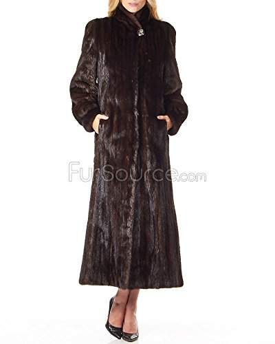 Classic Full Length Mink Coat in Mahogany - Medium - Full Length Womens Mink Coat