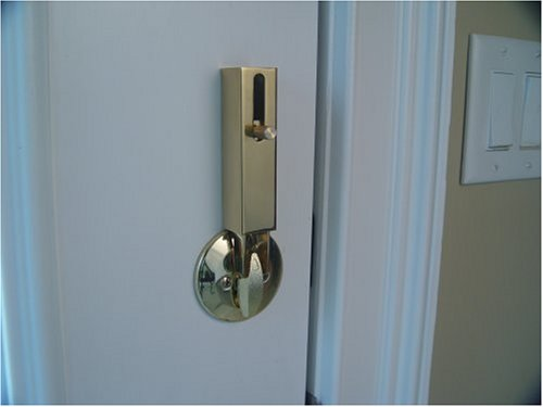 Lock Jaw Security 1001 Door Security Device Polished Brass Door