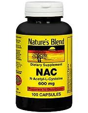 Nature's Blend NAC, N-Acethyl-L-Cysteine 600 mg - 100 Capsules