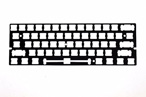 - ANSI Costar Stabilizers Anodized Aluminum Positioning Board Plate Support for GH60 60% Keyboard DIY (Black)