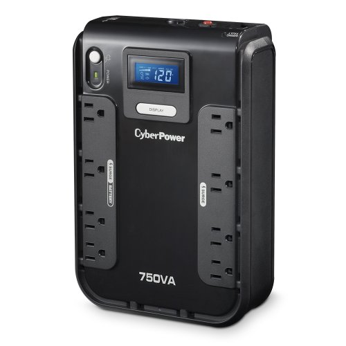 Cyberpower Intelligent Lcd (CyberPower CP750LCD Intelligent LCD UPS System, 750VA/420W, 8 Outlets, Compact)