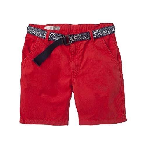 OFFCORSS Chino Bermuda Flat-Front-Shorts for Kids Bermuda para Niños Red 8