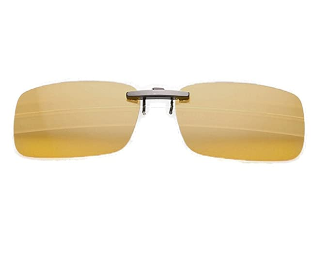 b56f2763802 Image Unavailable. Image not available for. Colour  Enem Brownish - Yellow  Night Vision Polarized Clip-On Metal Clip Driving ...