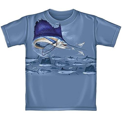 Fish Marlin T Shirt (Kids Medium)