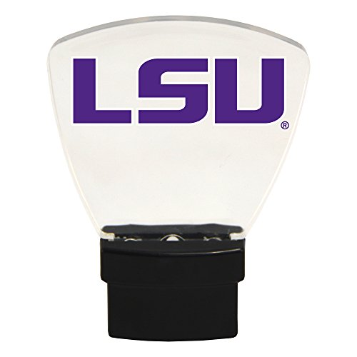 Authentic Street Signs NCAA Officially Licensed-LED NIGHT LIGHT-Super Energy Efficient-Prime Power Saving 0.5 watt, Plug In-Great Sports Fan gift for Adults-Babies-Kids Room (LSU Tigers)