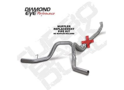 Diamond Eye K5246A-RP Turbo Back Diesel Exhaust Kit