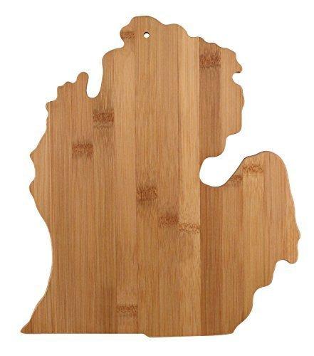 Arrowhead Bay Real Bamboo Cutting and Serving Board, Michigan design