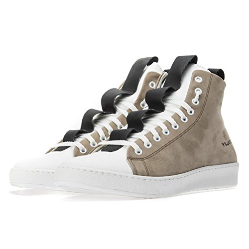 YLATI Sorrento High Sneakers Alte Pelle Taupe Size : 44