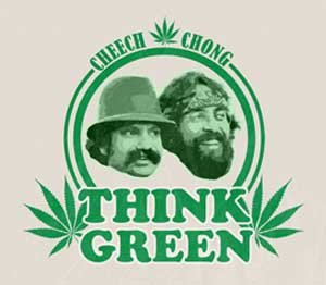 Think Green CD Cheech and Chong Sticker Humor//Marijuana