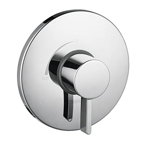 Hansgrohe 04233000 S Pressure Balance Trim with Glory Glaze Stainless Steel and Chrome Cleaner and Stainless Steel Polish, Chrome