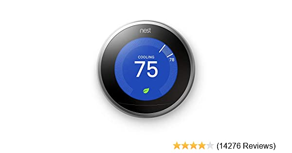 Google, T3007ES, Nest Learning Thermostat, 3rd Gen, Smart Thermostat, on ipod touch 3rd generation, apple 3rd generation, nest 2nd generation, nest generation 2 packaging, nook 3rd generation, nest 4th generation, nest generation 3 packaging, family 3rd generation,