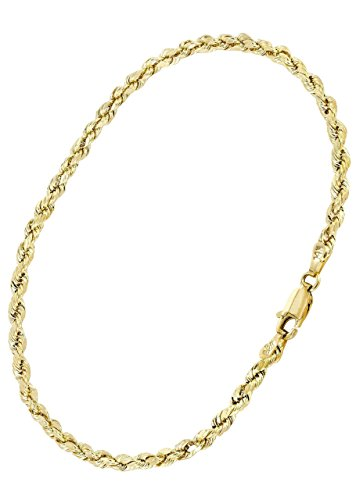 SNYS-14k-Gold-Rope-Bracelet-Yellow-Gold-8-Inches