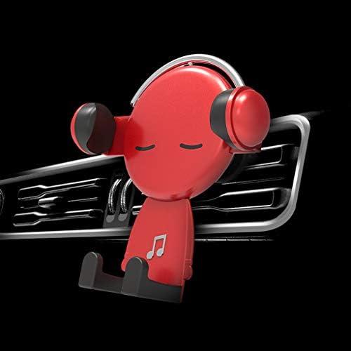 車の電話ホルダーエアコンセントスナップオンクリエイティブユニバーサルナビゲーション車のブラケット (色 : Red)