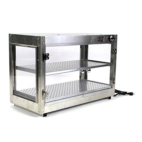 HeatMax 30x15x20 Commercial Food Warmer Pizza Pastry Patty Empanada Catering Concession Fund Raising Heated Display Case [並行輸入品] B07J4HFKVN