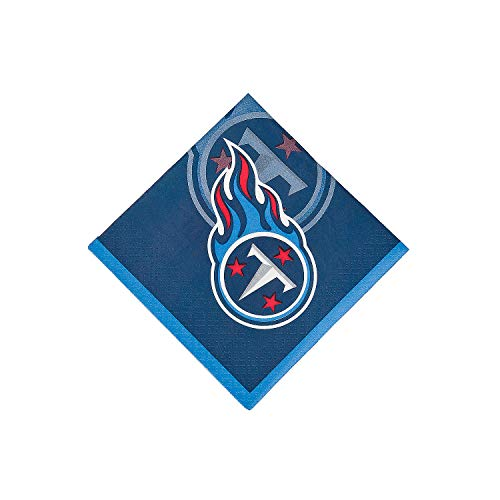 Fun Express - Nfl Tennessee Titans Bev Napkins for Party - Party Supplies - Licensed Tableware - Licensed Napkins - Party - 16 Pieces ()