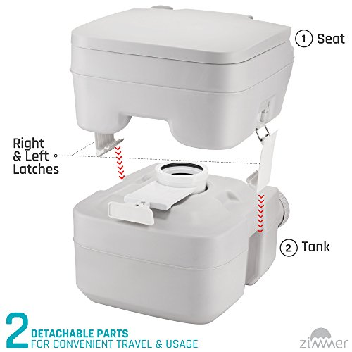 Portable Toilet Camping Porta Potty 5 Gallon Waste Tank