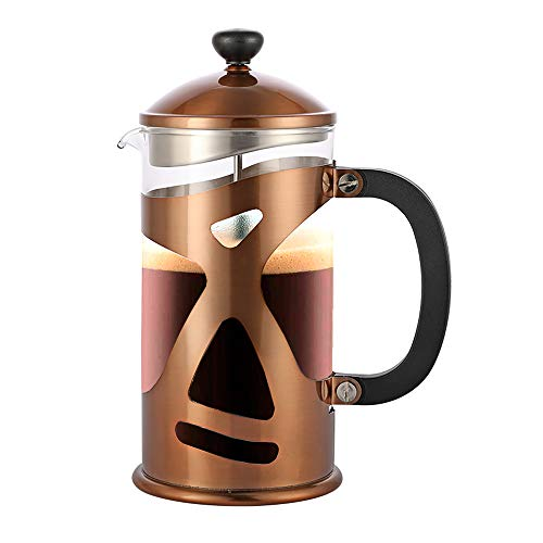 Highwin 8-Cup Dual-Filter French Press Coffee Maker, 34 Ounce Press Pot Cafetiere, Stainless Steel Coffee Plunger…