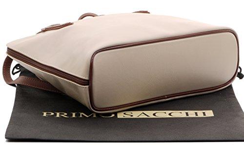 souple main long sac Beige rangement manche en Sacchi® cuir de protection à Primo Marron comprend de italien grand à amp; marque un à bandoulière sac de nqI7Y8Y