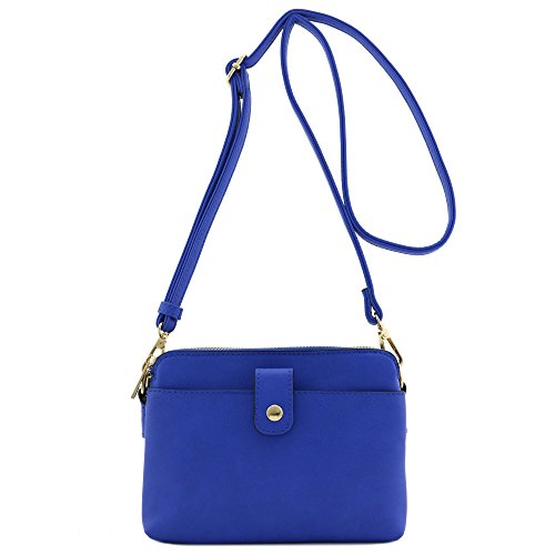 Double Compartment Small Crossbody Bag (Royal Blue) -