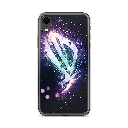 iPhone XR Case Anti-Scratch Gamer Video Game Transparent Cases Cover Laptop Asus Gaming Rog Game Gamer Mouse Red Colorful St Gaming Computer Crystal Clear