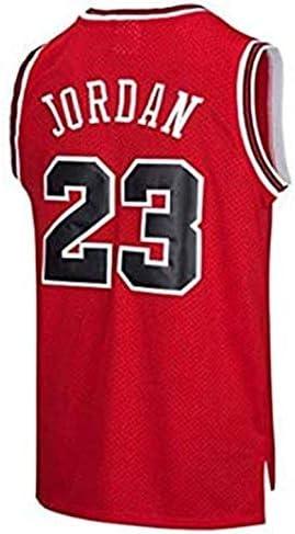 BeKing NBA Jersey Michael Jordan # 23 Chicago Bulls Maillot de Basketball Homme Rétro Gilet de Gym T-Shirt de Sport, S-XXL
