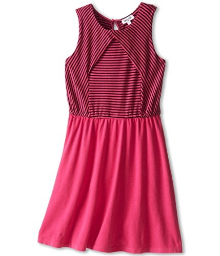 Splendid Littles Girls' Tank Dress w/Striped Bodice (Big Kids), Dragonfruit 12 ()