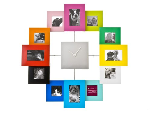 Family Time Photo Clock (Present Time Photo Frame Clock Family Time, Multicolor)