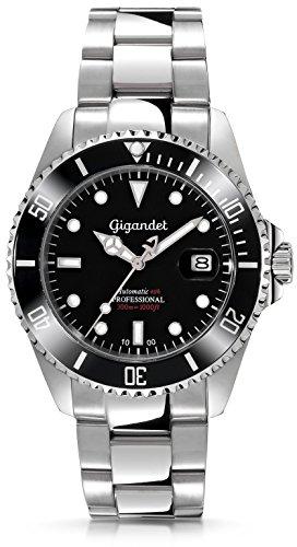 Gigandet-Herren-Automatik-Armbanduhr-Sea-Ground-Analog-Edelstahlarmband-Schwarz-Silber-G2-002