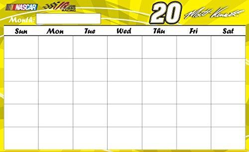 NASCAR #20 MATT KENSETH calendar dry erase-9.5