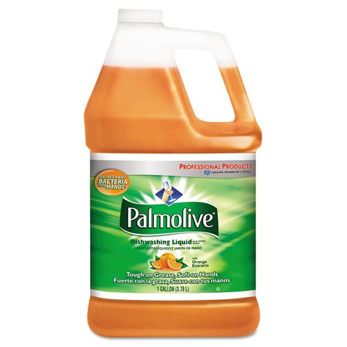 Palmolive Dishwashing Liquid & Hand Soap, Orange Scent, 1 gal Bottle - four 1-gallon bottles per case.