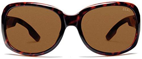 Zeal Optics Women's Penny Lane Polarized Demi Tortoise W / Copper Polarized Lens - Zeals Sunglasses