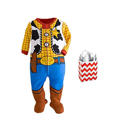 Disney Toy Story Baby Boys' Woody Footie Stretchie and Bag 2 Piece Gift Set (18-24 Months)