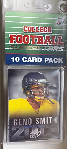 10 card pack college football west virginia mountaineers different superstars starter kit