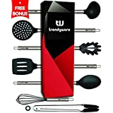 Kitchen Utensil Set – Non-Scratch, Silicone, Stainless Steel – Safe for Non-Stick Pots, Pans, Cookwares - Non Scratch Whisk