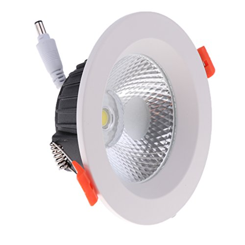 Homyl Aluminum Round LED Downlight Recessed Fixture Ceiling Lamp Easy Installed - 3.5 inch 10W COB by Homyl (Image #2)