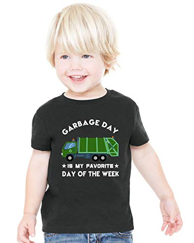 Garbage Man Halloween Costume Toddler (Waldeal Trash Garbage Day Graphic Tee for Boys Halloween Kids Tshirt Size)