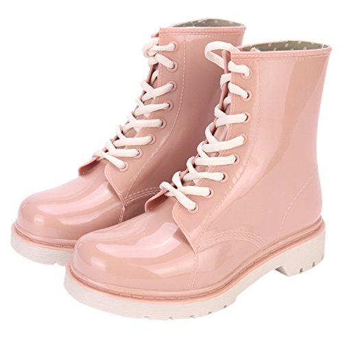 Klar Regen Stiefel Ankle Wasserdicht Transparent Jelly Shoe Booties p3WtIDv