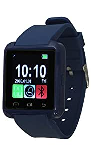 ActiveTec Bluetooth Smart Watch with Touchscreen for Android iPhone Sleep Monitor Sport Activity Tracker Pedometer (Navy Blue)