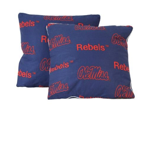 College Covers Mississippi Rebels Decorative Pillow (Set of 2), 16 by 16