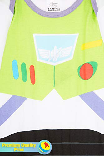 Disney Toy Story Tutine Neonato Buzz Lightyear, Pigiama Intero Bambino, Tutina per Neonati in Puro Cotone, Abbigliamento… 3