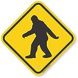 "SmartSign ""Sasquatch Big Foot Crossing"" Sign | 12"" x 12"" Aluminum"