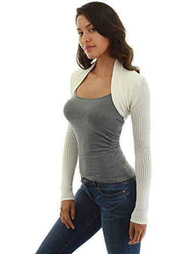 PattyBoutik Women Open Stitch Long Sleeve Sweater Shrug