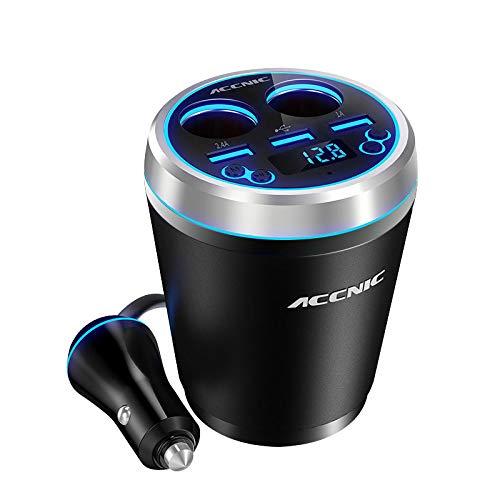 Buwei Cup Holder Cigarette Lighter Car Charger Bluetooth Car FM Transmitter Audio Adapter Receiver Wireless Handsfree TF Card 3 (Best Generic Bluetooth Audio Receivers)