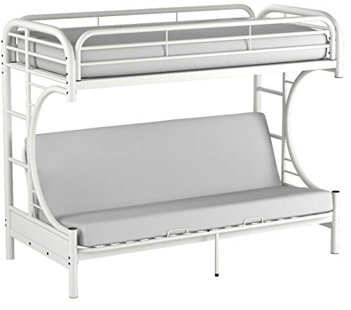 Eclipse Twin Over Full Futon Bunk Bed, White