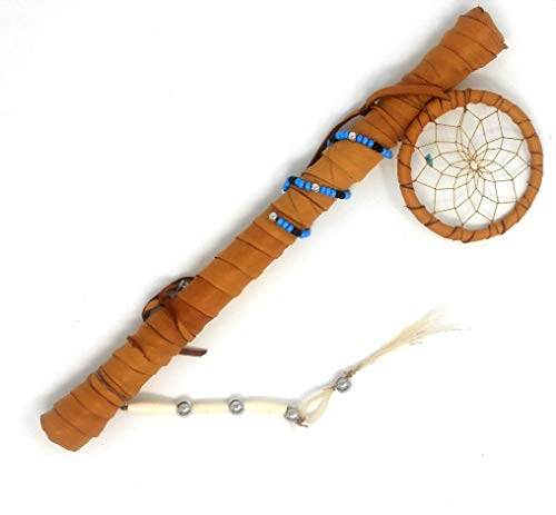 Native American Ceremonial Talking Stick | Authentic Indian Ceremonial Speaker's Staff by Traditional Cherokee - Resolution Certificate