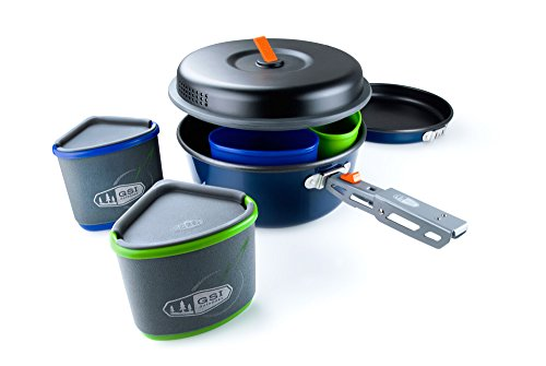 GSI Outdoors - Bugaboo Backpacker, Nesting Cook Set, Superior Backcountry Cookware Since 1985