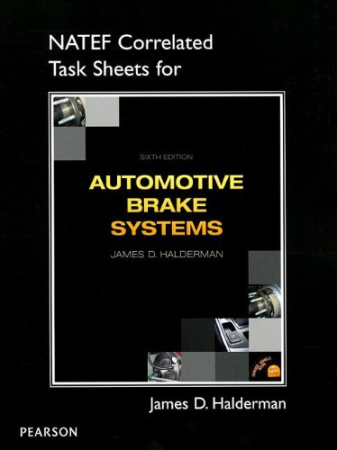 NATEF Correlated Job Sheets for Automotive Brake Systems