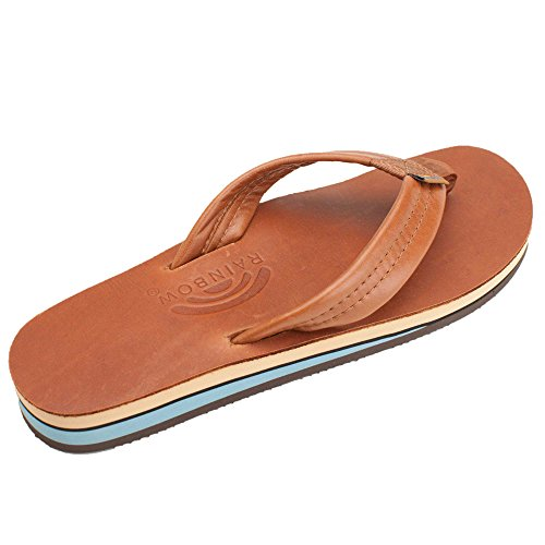 Rainbow Sandals Hombres Double Layer Classic Mocha