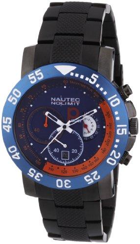 Nautec No Limit P-Racer - Reloj cronógrafo de caballero de cuarzo con correa de acero inoxidable gris (cronómetro) - sumergible a 100 metros: Amazon.es: ...