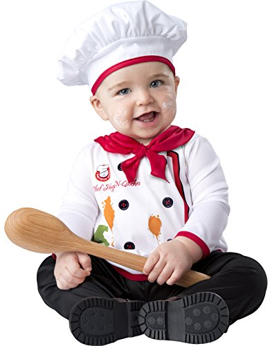 InCharacter Baby Hugs & Quiches Chef Halloween Costume 0-6 months (2 Month Baby Halloween Costume)